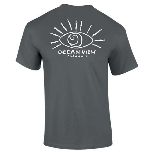 Ocean View Cornwall Tee Shirt  Eye Back Print
