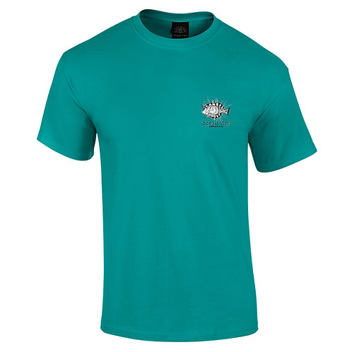 Ocean View Cornwall Tee Shirt  Fish Front Print