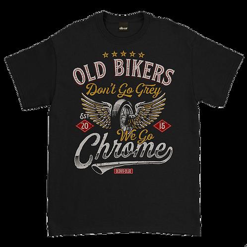 """Oldies Club, Tee Shirt  """"Old Bikers"""""""
