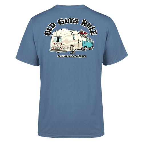 "Old Guys Rule Tee,  ""Been Around The Block"""
