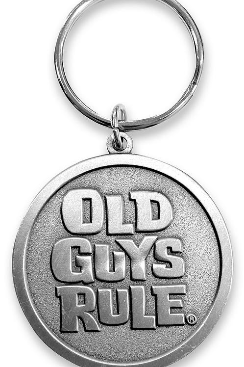 Old Guys Rule Metal Circle Stacked Logo Key Ring