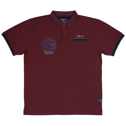 Oldies Club Embroidered Polo Shirt, Born To Be Wild