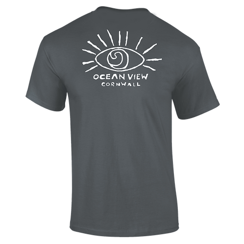 Ocean View Cornwall Eye Tee Shirt Back Print
