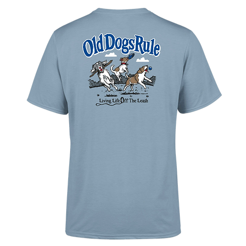 "Old Guys Rule Tee Shirt ""Old Dogs Rule"""
