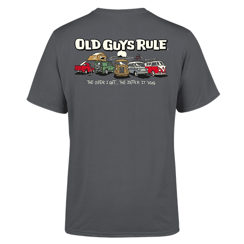 Old Guys Rule Tee, Parking Lot, Charcoal