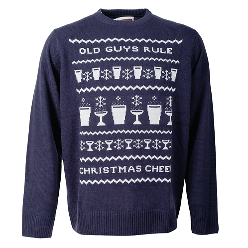 Old Guys Rule Xmas Cheer Jumper