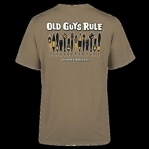 "Old Guys Rule Tee,  ""Untapped Potential"""