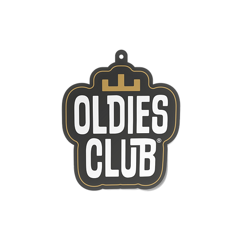 Oldies Club Air Freshener Stacked Logo