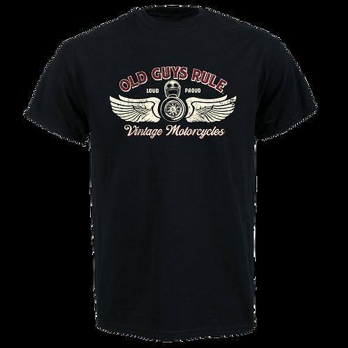 Old Guys Rule Tee, Vintage Motorcycles 4XL,5XL