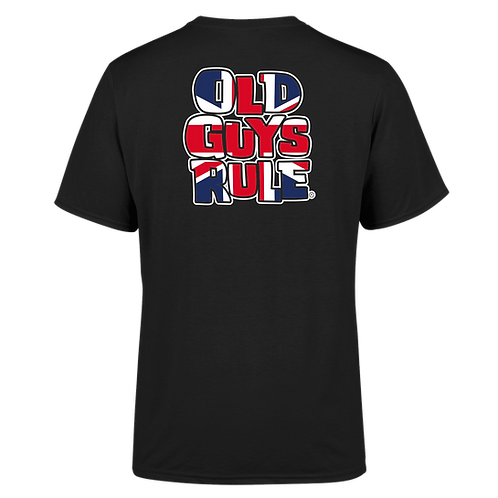 "Old Guys Rule Tee, 3XL ""OGR GB Stacked Logo"" Black"