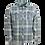 Thumbnail: Stacked OGR Logo Overshirt Indigo Check
