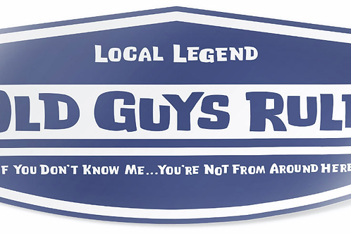 "Old Guys Rule Sticker  ""Local Legend"""