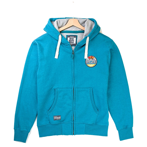 Old Guys Rule Full Zip Turquoise Hooded Sweat