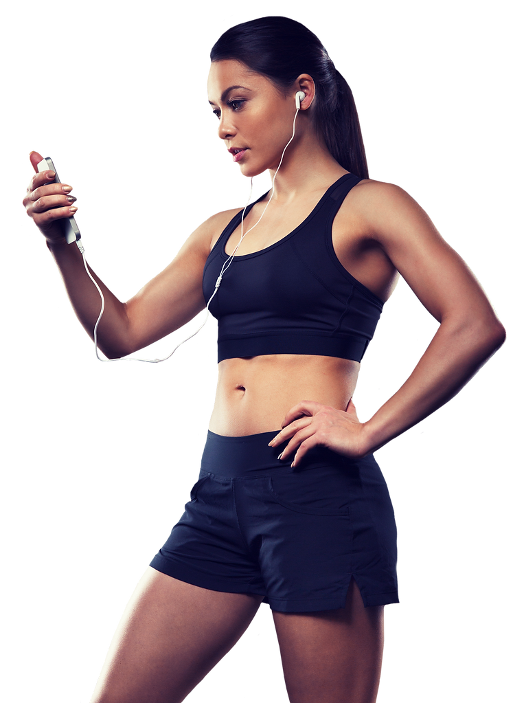 woman-with-smartphone-and-earphones-in-g