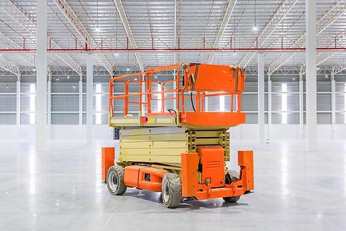 Scissor Lift Aerial Work Platform at a c