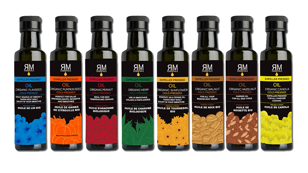 Organic Cold-Pressed Oils