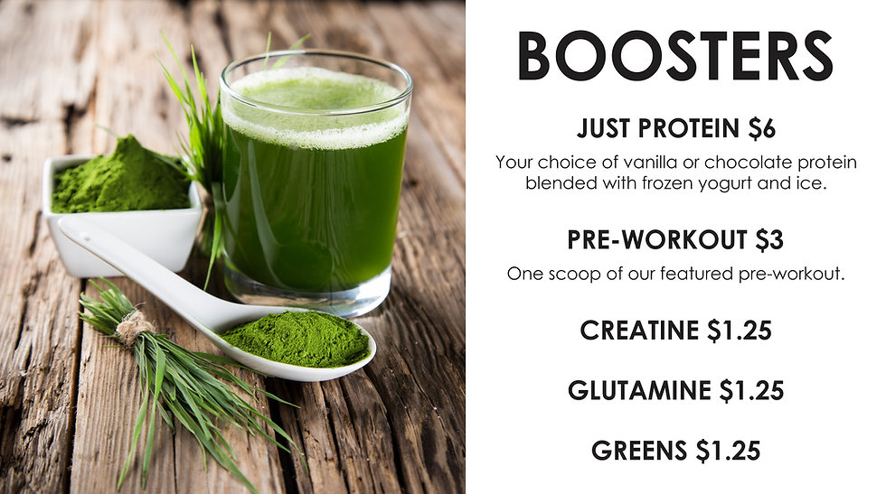 Boosters for pre workout at Fitness wesdt Gym, Vernon BC