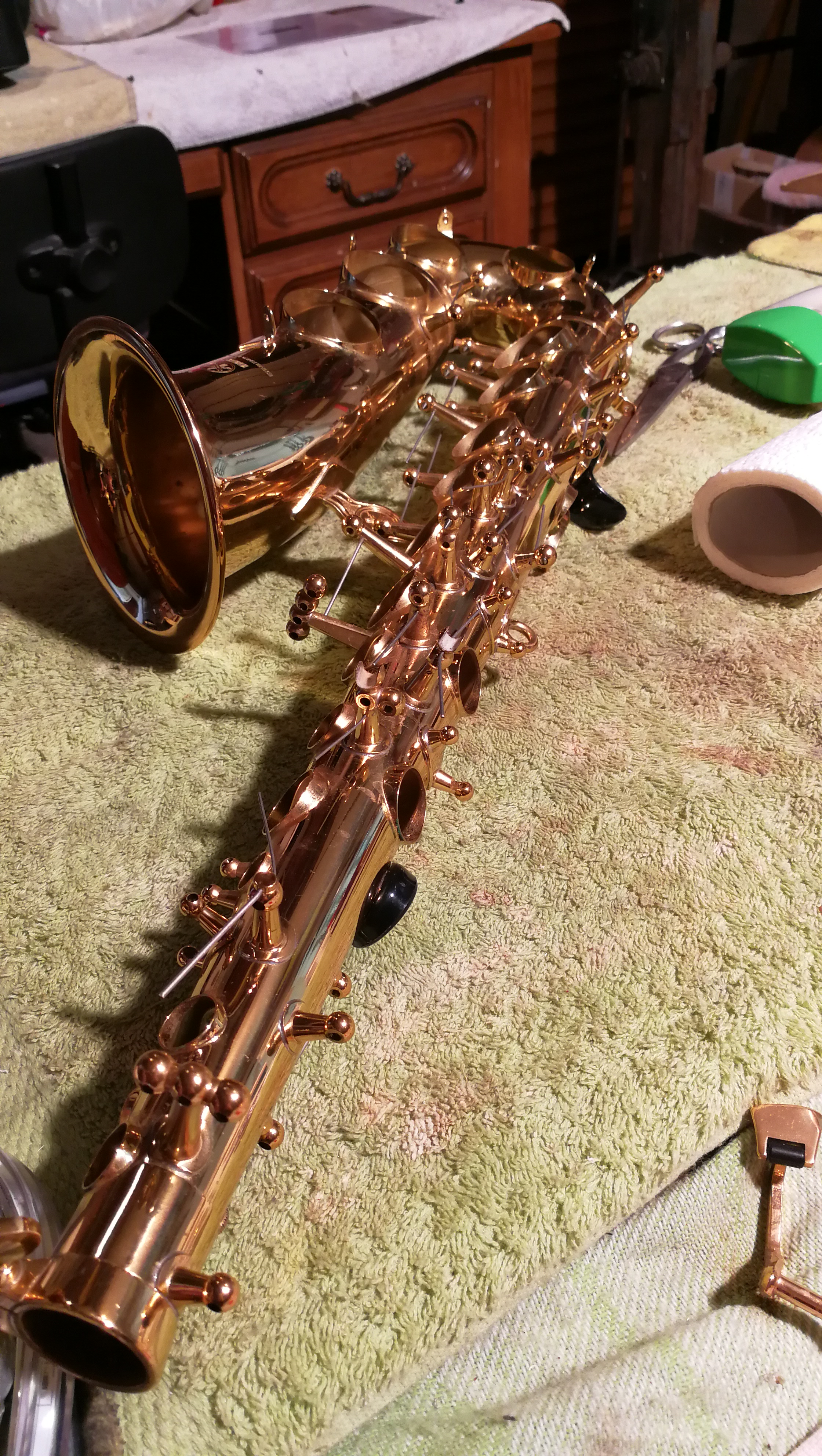 montage tampon saxophone