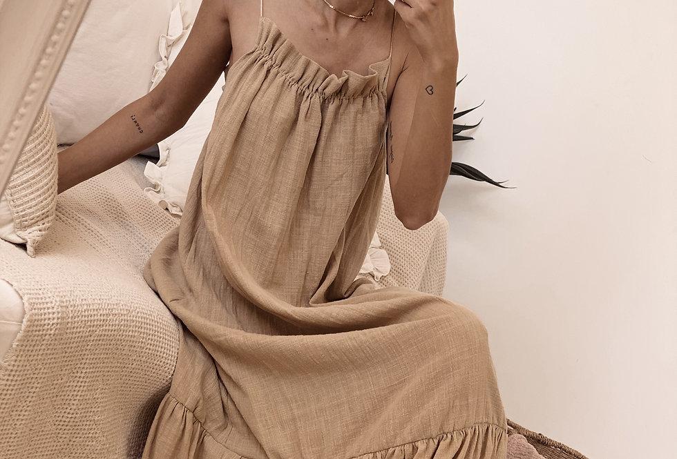 Classy Paz Dress/Camel