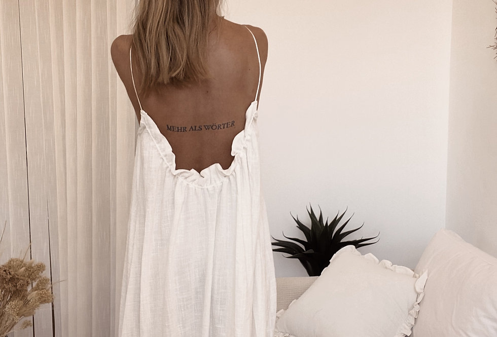 Classy Paz Dress/ Off White