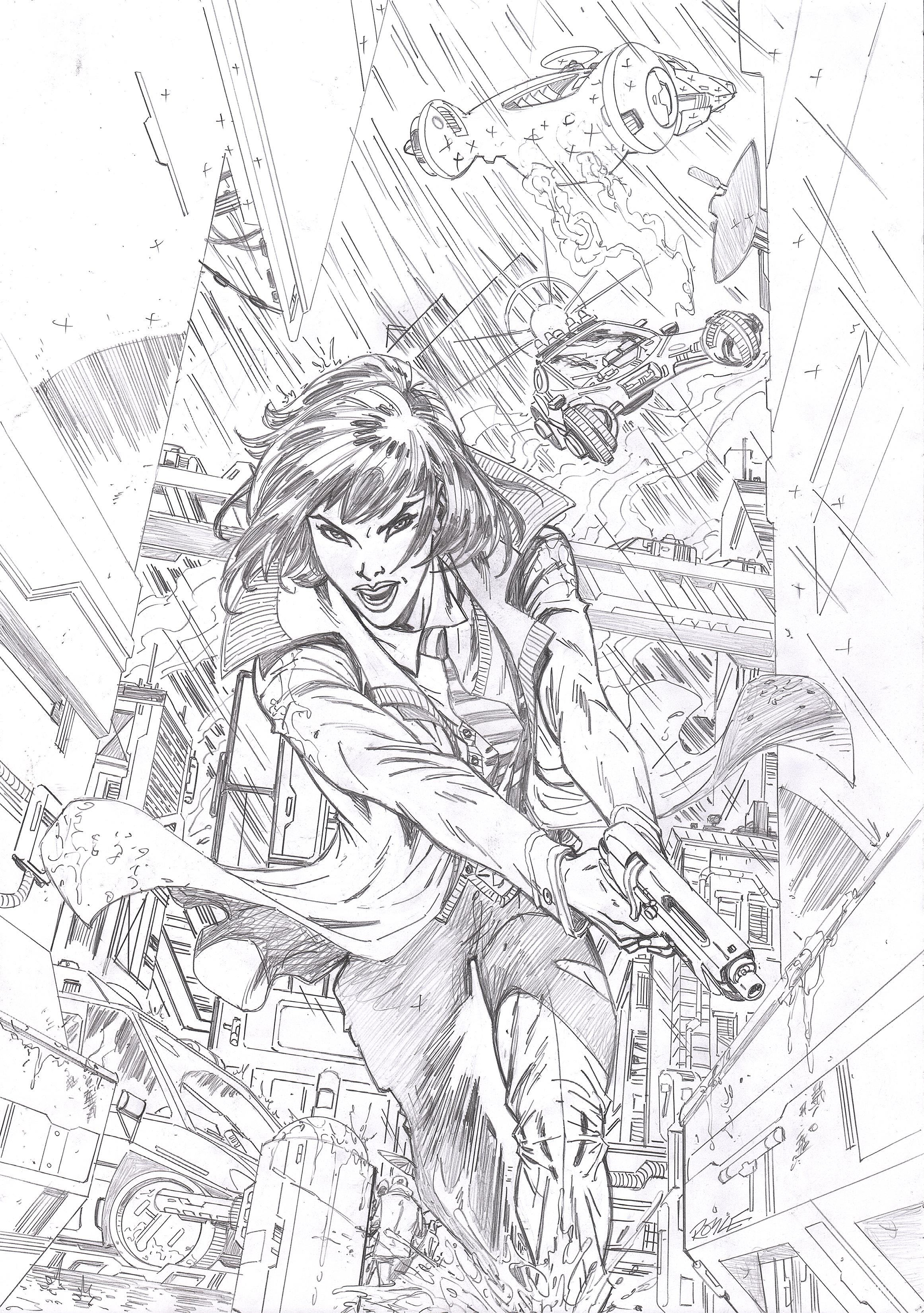 BladeRunner #1  cover Titan comics .