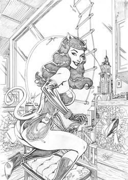 """Bettie Page 'Catwoman"""" # 7 cover"""