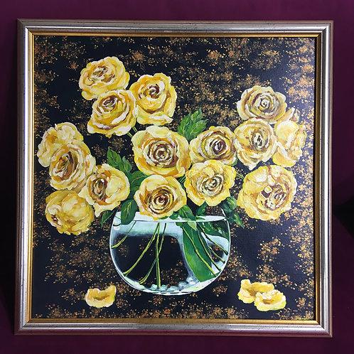 Картина Букет жёлтых роз