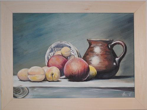 """картина """"Натюрморт с персиками"""""""