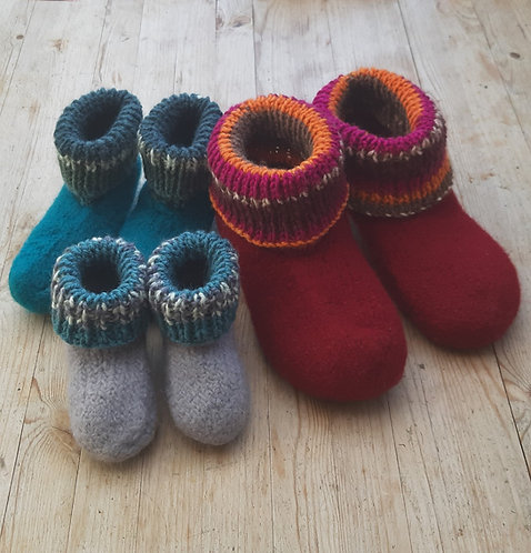 Fabulous Felted House Shoes