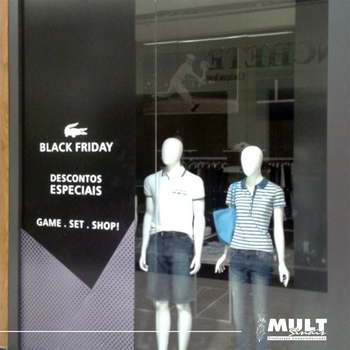 Adesivação vitrine (campanha black friday 2015)