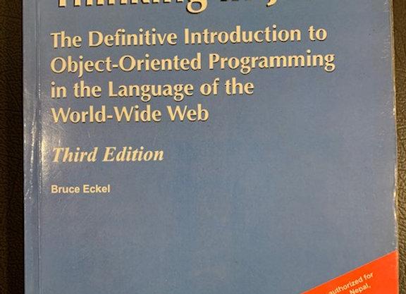 Thinking in Java  -  Bruce Eckel