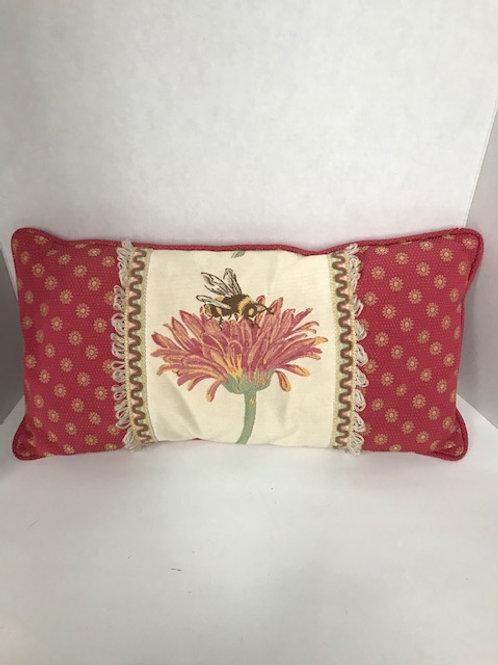 Bee & Flower Pillow