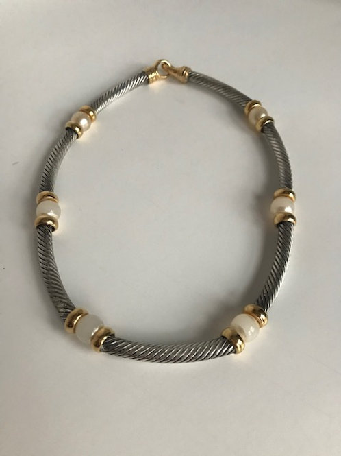 Cable & Pearl Necklace