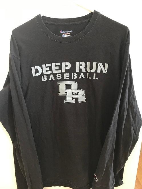 Deep Run Baseball Black Long Sleeve Tee