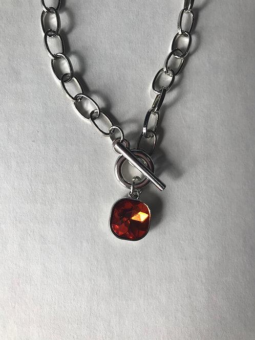 Topaz & Silver Earrings & Necklace
