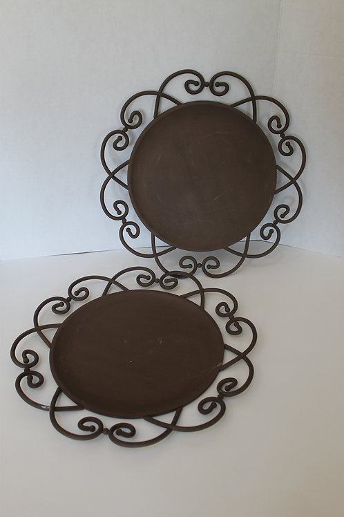 Southern Living Home Wrought Iron Chargers (2)
