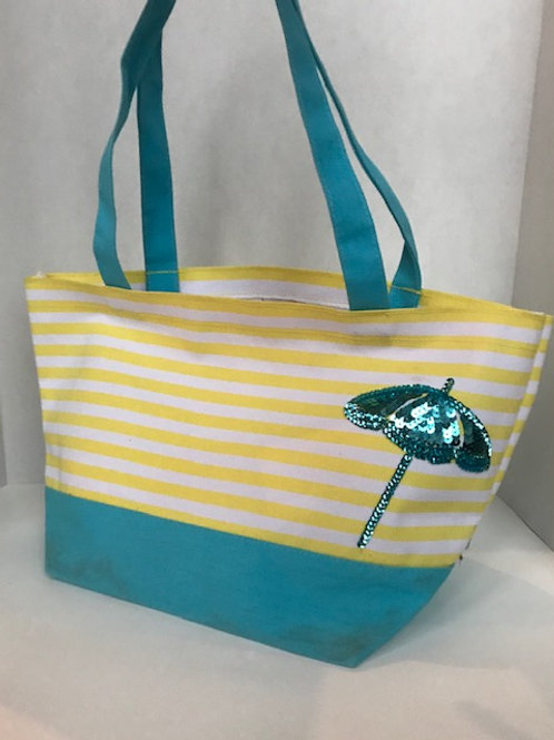 Umbrella Sequin Small Beach Tote