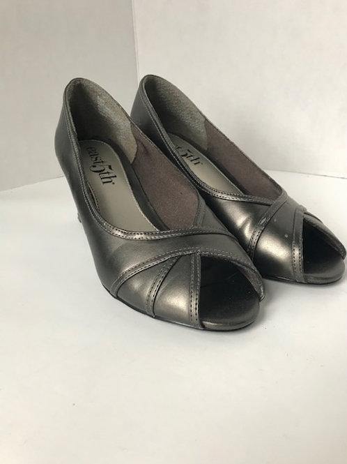 East 5th Metallic Leather Heel