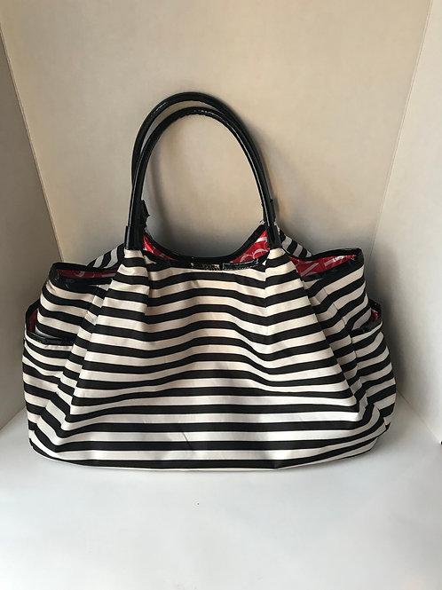 Black & White Striped Large Purse