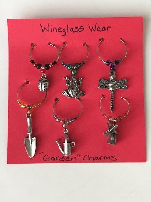 Garden Wine Glass Charms