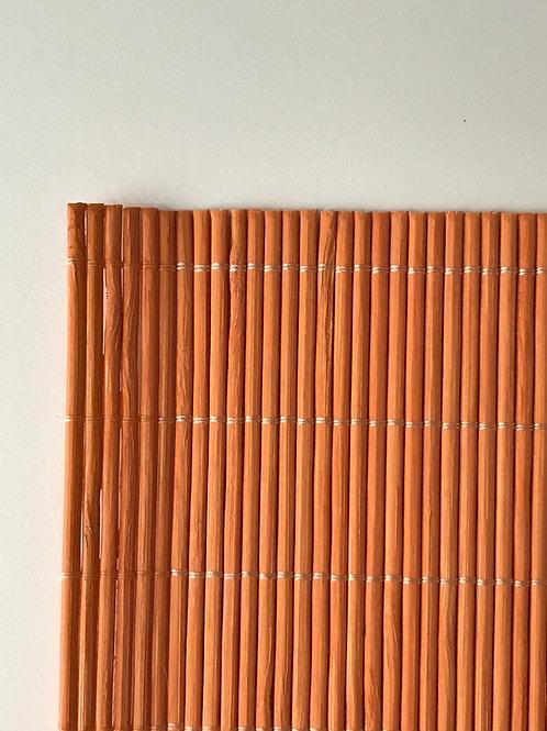 Orange Bamboo Placemats