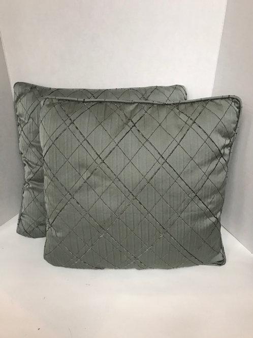 Dusty Blue w/ Brown Thread Pillows