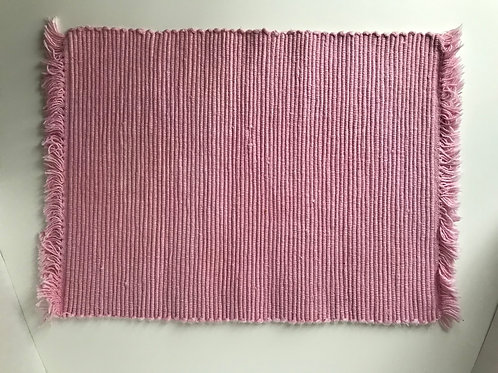 Pink Ribbed Cotton Placemats