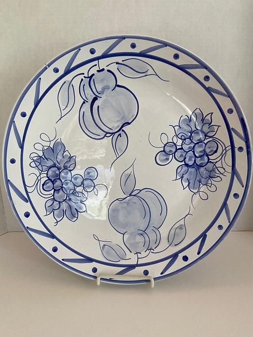 Large Blue and White Fruit Platter