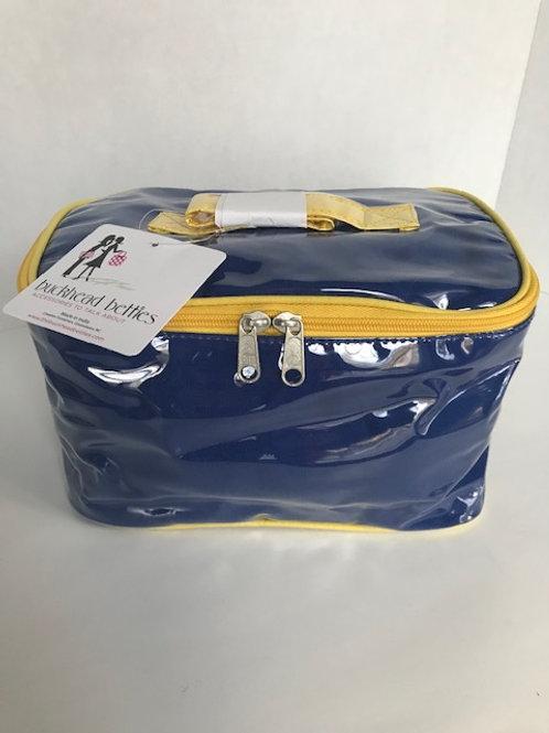 Buckhead Betties Blue & Yellow Cosmetic Bag