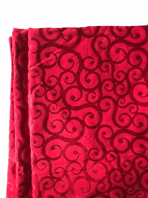 Rectangular Burgandy Swirl Table Cloth