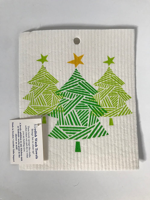 Christmas Tree Swedish Wash Cloth