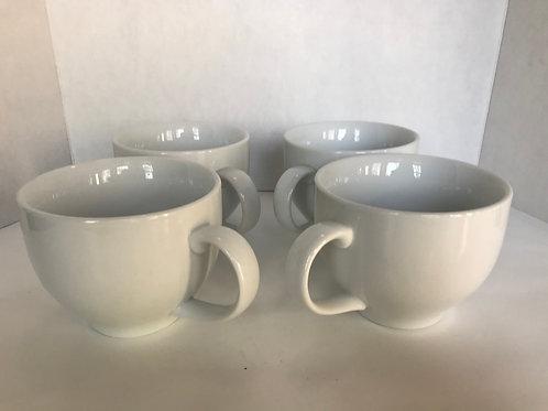 Pottery Barn White Ceramic Soup Mugs