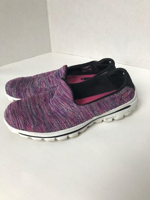Purple & Pink Knit Slip-On Sneaker