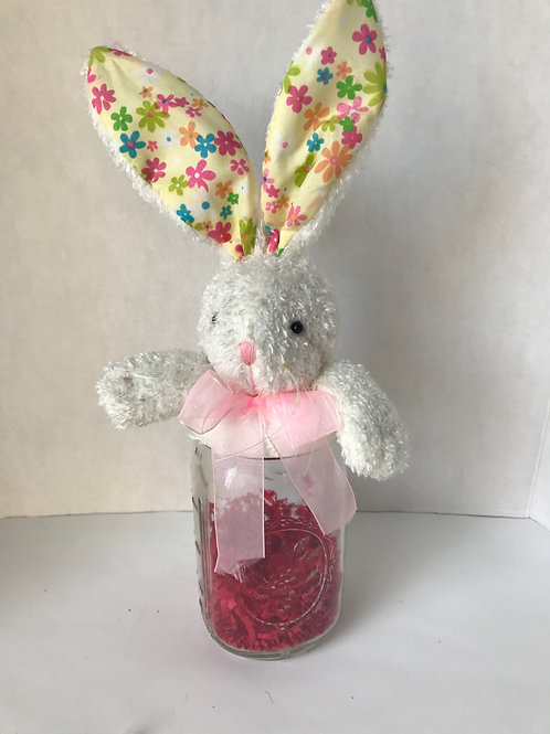 Easter Bunny Fillable Jar